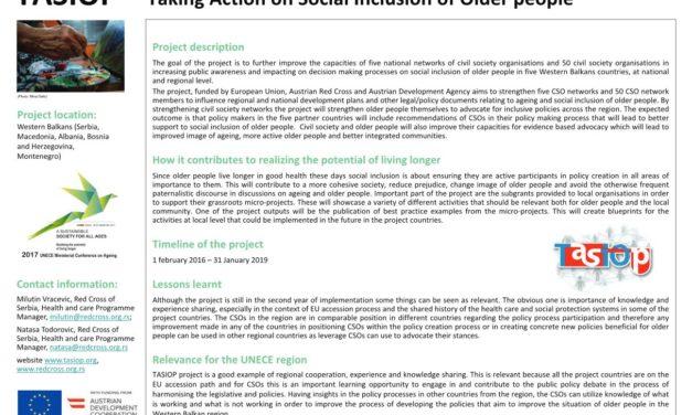 """Projekat """"Inicijativa za socijalnu inkluziju starijih osoba"""" (TASIOP) na Ministarskoj konferenciji u Lisabonu"""
