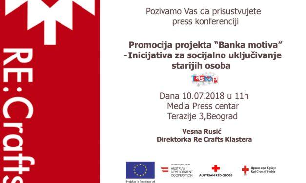 Promocija projekta Banka Motiva: najava