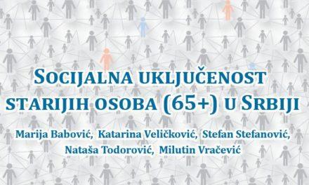 Istraživanje: Socijalna uključenost starijih osoba (65+) u Srbiji
